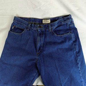 LL Bean Flannel Lined Mens Jeans Classic Fit 36x29